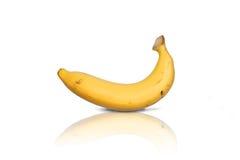 Banana su priorità bassa bianca Fotografia Stock Libera da Diritti