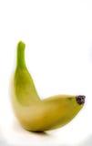 Banana su priorità bassa bianca Fotografie Stock
