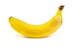 Banana su priorità bassa bianca Fotografie Stock Libere da Diritti