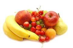 Banana, sweet cherry, apple Royalty Free Stock Photos