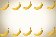 Banana. Sweet yellow banan background, enhance your work Stock Image