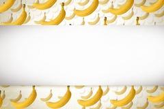 Banana. Sweet yellow banan background, enhance your work Stock Images