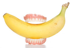 Banana teeth Royalty Free Stock Images