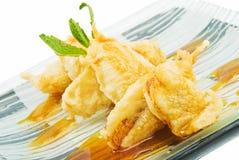 Banana in tempura 2 Stock Photos