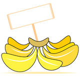 Banana text box Royalty Free Stock Images