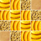 Banana textures inside square shapes royalty free stock photo