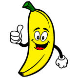Banana with Thumbs Up. Cartoon illustration of  a Banana with Thumbs Up Royalty Free Stock Image