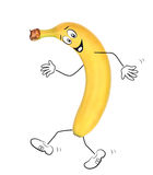 Banana to go in for sports, running Royalty Free Stock Image