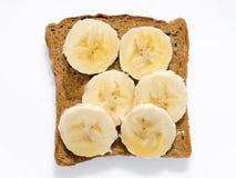 Banana toast isolated Stock Images