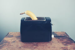 Banana in a toaster Stock Photos