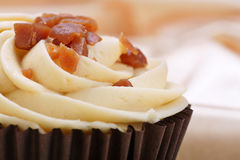 Banana and toffee cupcake Royalty Free Stock Photography