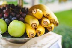 Banana on Tray Stock Image