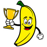 Banana with Trophy Royalty Free Stock Photo