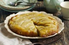 Banana upside-down cake Royalty Free Stock Images