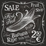 Banana vector logo design template. fresh fruit Royalty Free Stock Photos