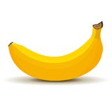Banana in vector Royalty Free Stock Photography