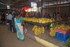 Banana vendor Stock Photo