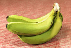 Banana verde Fotografia Stock