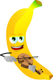 Banana with violin Royalty Free Stock Images