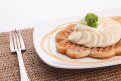 Banana waffle Royalty Free Stock Image