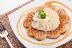 Banana waffle Stock Photography