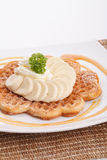 Banana waffle Royalty Free Stock Images