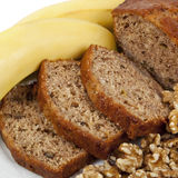 Banana and Walnut Bread Royalty Free Stock Images