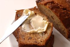 Banana walnut bread Stock Photo