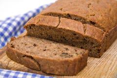 Banana Walnut Bread. A fresh homemade loaf of banana walnut bread Royalty Free Stock Image
