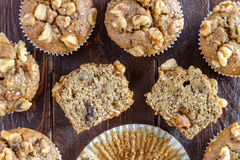 Banana Walnut and Chia Seed Muffins Royalty Free Stock Images