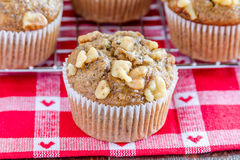 Banana Walnut and Chia Seed Muffins Stock Images
