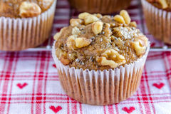 Banana Walnut and Chia Seed Muffins Stock Photos