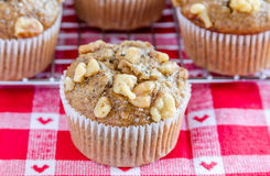 Banana Walnut and Chia Seed Muffins Stock Image