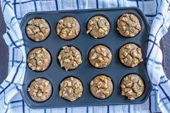 Banana Walnut and Chia Seed Muffins Royalty Free Stock Photo