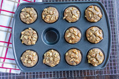 Banana Walnut and Chia Seed Muffins Stock Image