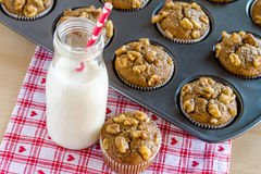 Banana Walnut and Chia Seed Muffins Royalty Free Stock Photography