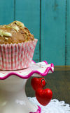 Banana Walnut muffin with white chocolate and cinnamon Royalty Free Stock Photography