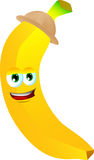 Banana wearing scout or explorer hat Stock Photography