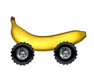 Banana on wheels Stock Photo
