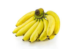 Banana on white background. The banana that have many vitamins and nutrition Stock Photo