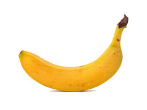 Banana white background. Isolated object Stock Images