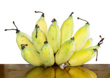 Banana on white background Royalty Free Stock Photos