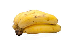 The banana in white background Stock Photos
