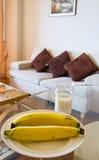 Banana  wiht milk Stock Photography