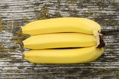Banana on a wooden background Royalty Free Stock Photo