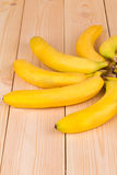 Banana on the wooden floor. Royalty Free Stock Photos