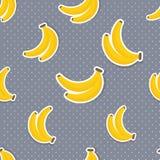 Banana wzór Bezszwowa tekstura z dojrzałymi bananami Zdjęcia Royalty Free