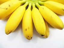 Banana. Yellow fruit banana on white background Royalty Free Stock Image