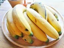Banana. Yellow Banana on Plate royalty free stock photography