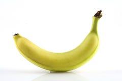 Banana. Yellow banana on a white background Stock Photo